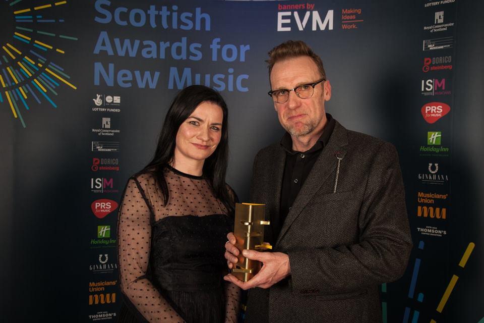Michael Begg and Linda Buckley, New Music Scotland Awards