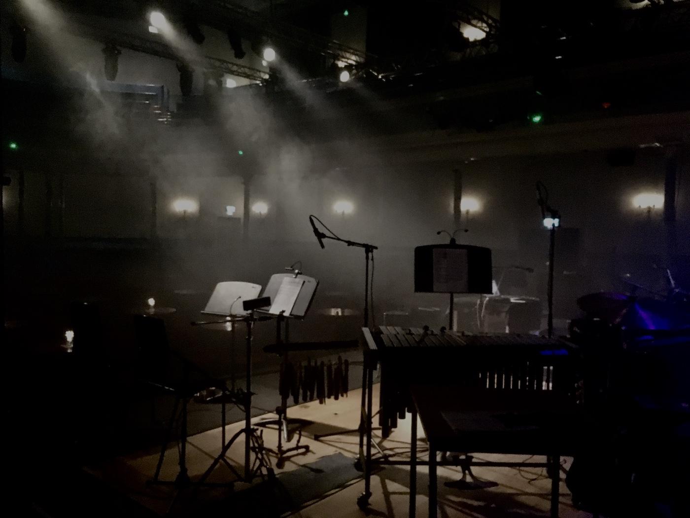 Black Glass empty stage